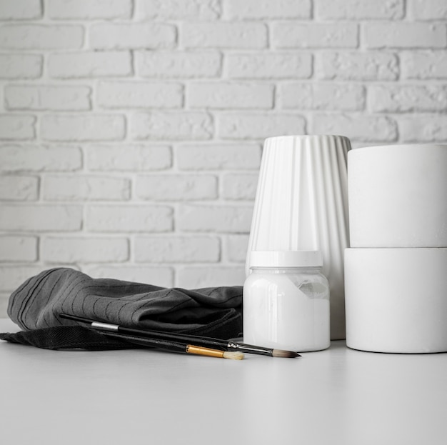 Beautiful hand made objects with copy space