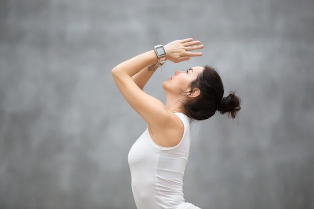Beautiful hatha yoga
