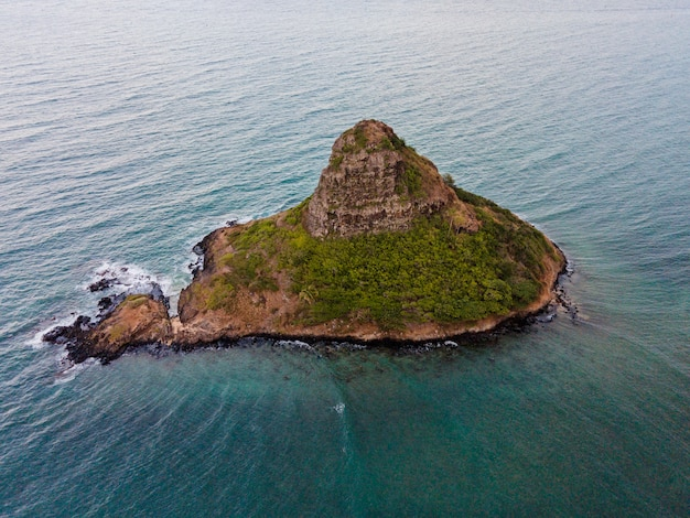 Beautiful hawaii landscape with ocean