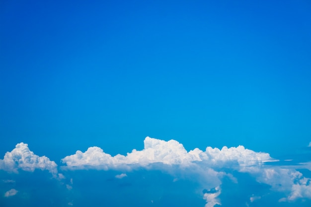 Beautiful heap clouds with clear blue sky