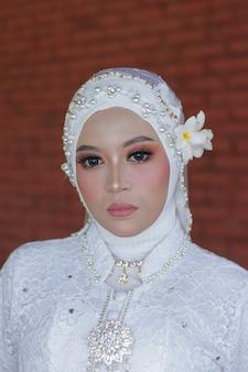 美しいヒジャーブの女性の写真