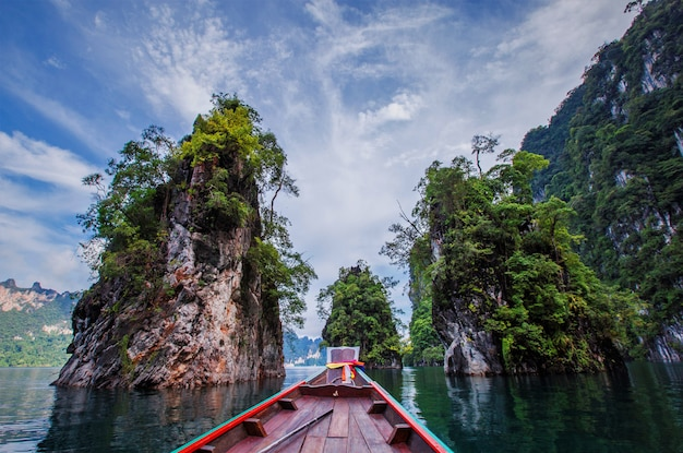Beautiful holiday day in khao sok national park, suratthani, thailand