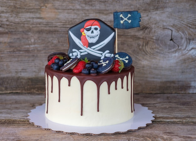 Beautiful home in a pirate style for a kid's birthday party