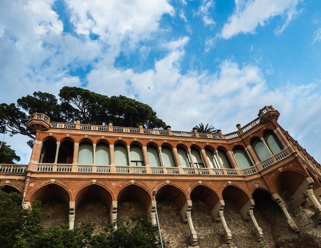 Beautiful houses of the fabulous city of genoa