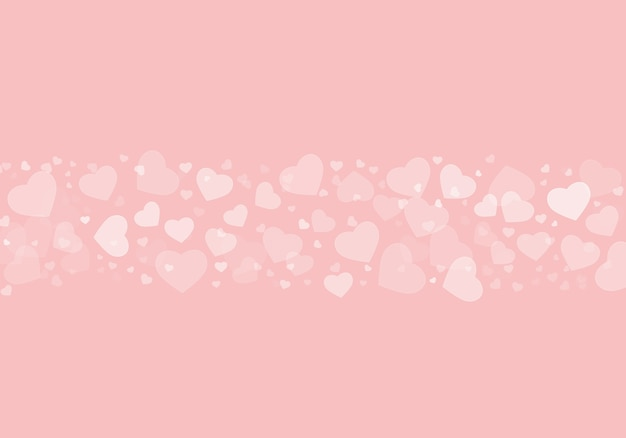 ピンクの背景に白いハートの美しいイラスト-完璧な壁紙や背景