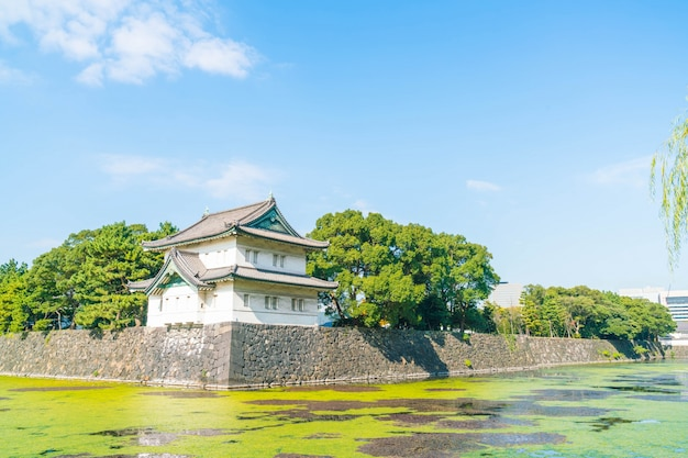 Beautiful imperial palace building in tokyo