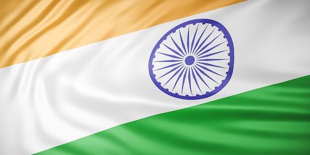 美しいインドの旗の波