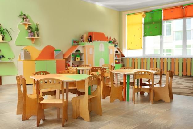 幼稚園のゲームルームの美しいインテリア