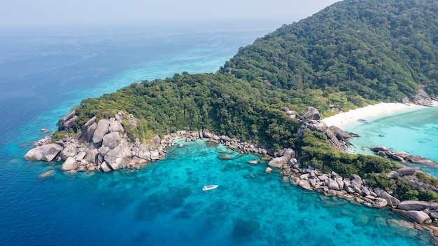 태국의 아름다운 섬 similan island 태국에서 세계에서 가장 아름다운 섬
