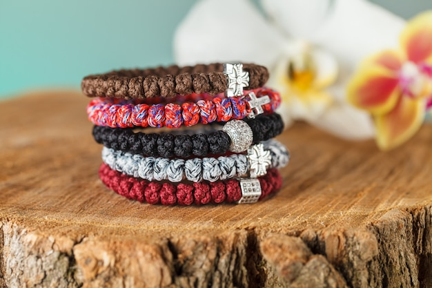Beautiful jewelry made of natural stones and exquisite accessories