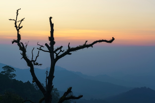 Beautiful kewfin viewpoint is located in chae son national park, thailand