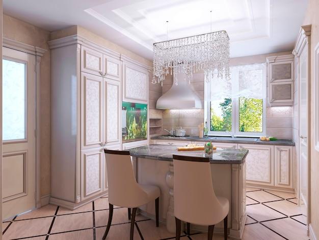 美しいキッチンアールデコスタイル