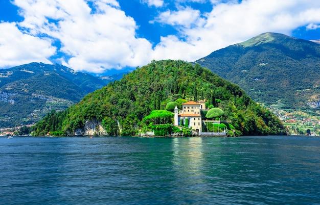 Красивое озеро комо, вилла дель бальбинелло