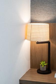 Beautiful lamp decoration in bedroom in terior