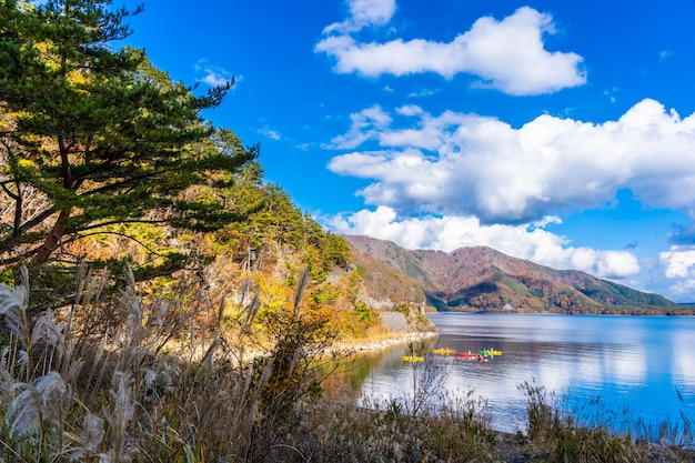 Beautiful landscape around lake kawaguchiko