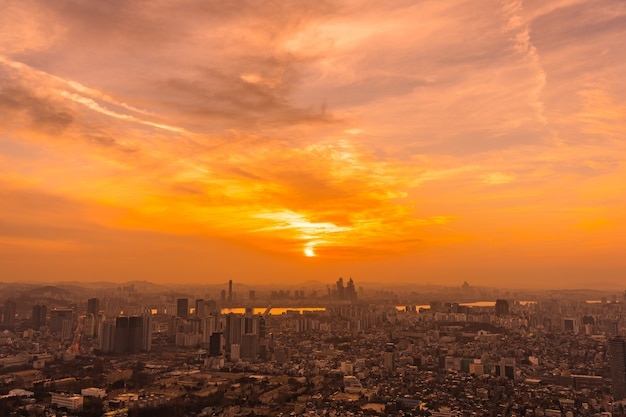 Beautiful landscape and cityscape of seoul city