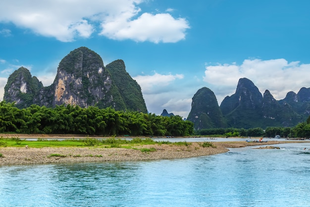 The beautiful landscape of guilin, guangxi