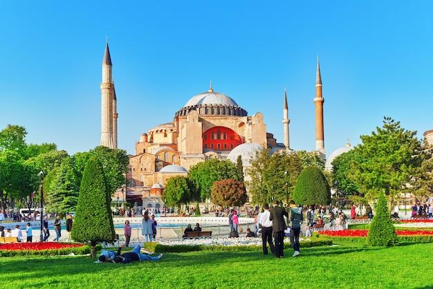 Красивый пейзаж собор святой софии музей святой софии - бывший греческий православный христианин.