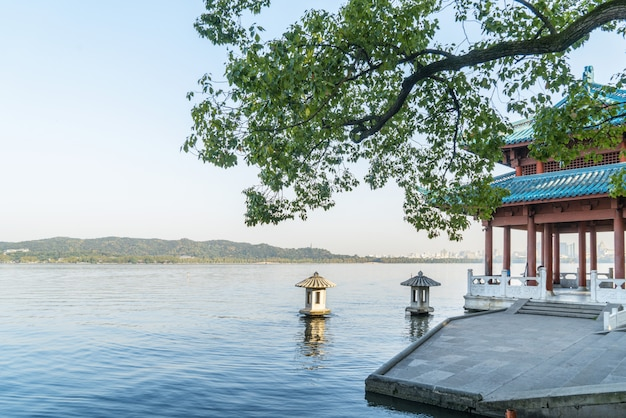 Beautiful landscape and landscape in west lake, hangzhou