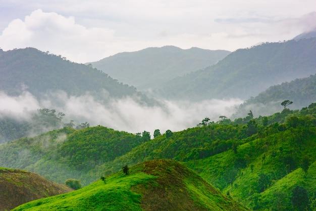 Beautiful landscape in nan province, thailand