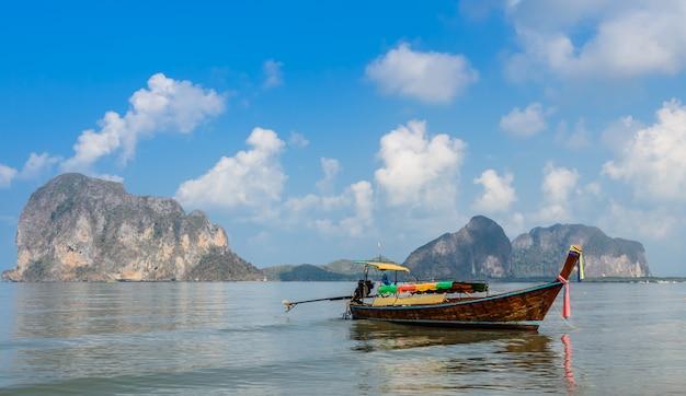 Beautiful landscape of pak meng beach in trang, thailand