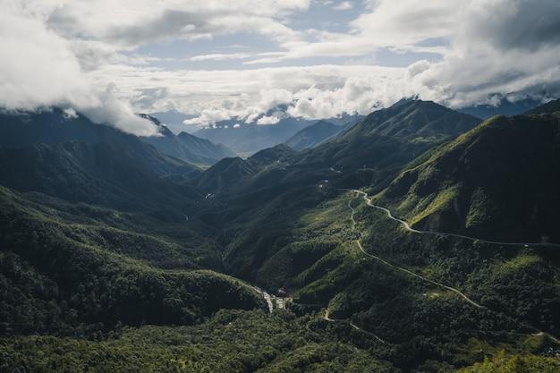Beautiful landscape of sa pa vietnam