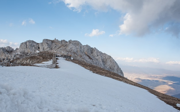 Beautiful landscape of snow mountain of shangri-la, china.
