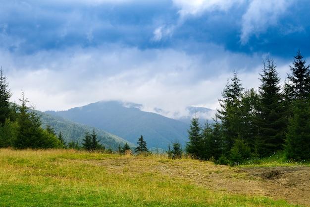 Beautiful landscape of ukrainian carpathian mountains.