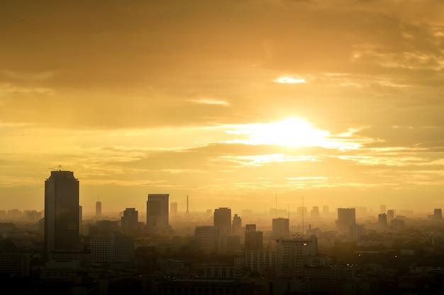 Beautiful landscape view of bangkok city
