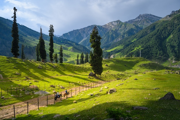 Beautiful landscape view of mountains in india