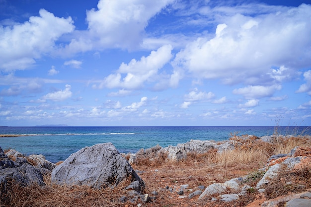 Beautiful landscape with sea and rock