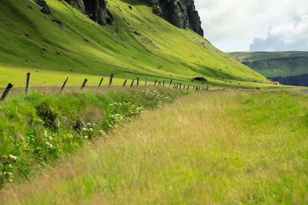 旅行中のアイスランドの美しい風景