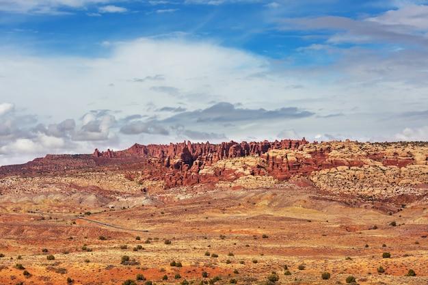 アメリカの砂漠の美しい風景