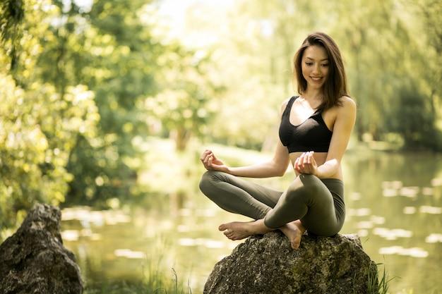 Beautiful lifestyle morning girl healthy Free Photo