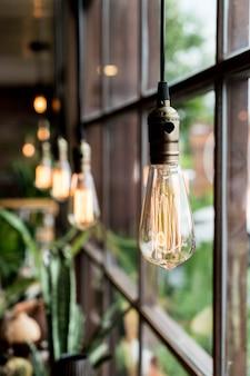 아름다운 조명 램프 장식