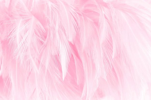 美しい明るいピンクの鳥の羽柄のテクスチャ背景。