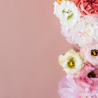 아름다운 lisianthus 꽃 배경 디자인