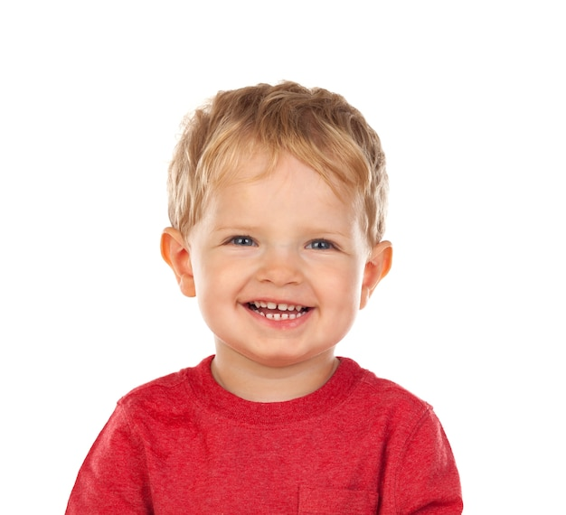 Beautiful little child two years old laughing