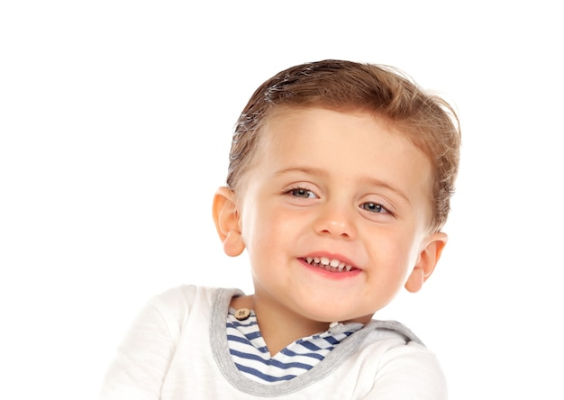Beautiful little child two years old with blond hair