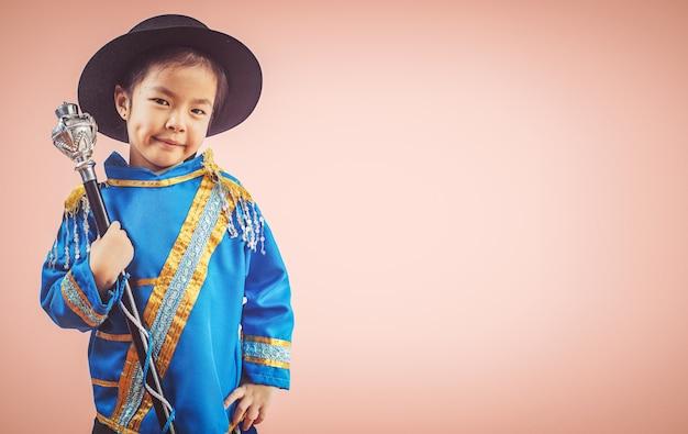 Beautiful little girl drum major smile