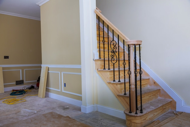 Beautiful living room new home construction interior drywall and finish details