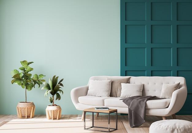 Beautiful living room with minimalistic design
