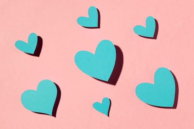 핑크에 아름다운 사랑 배열