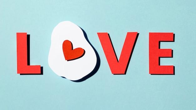 블루에 고립 된 아름 다운 사랑 구성