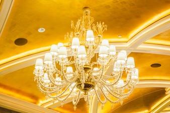 Beautiful luxury chandelier decoration interior