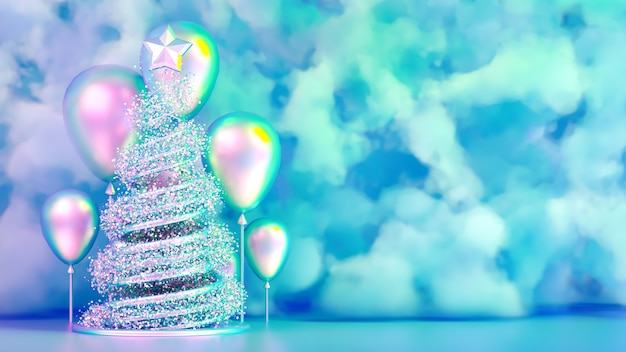 Красивый роскошный рождественский праздник фон.