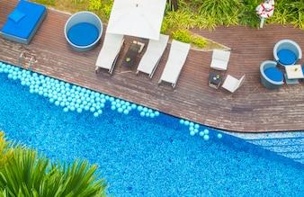 Beautiful luxury hotel swimming pool resort