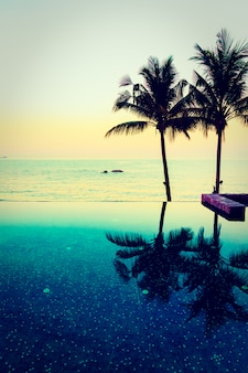 Beautiful luxury hotel swimming pool