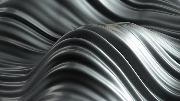 Beautiful luxury metallic background. 3d rendering.