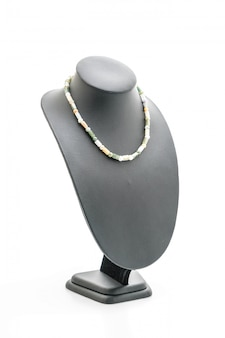 Beautiful and luxury necklace with jewelry stand neck